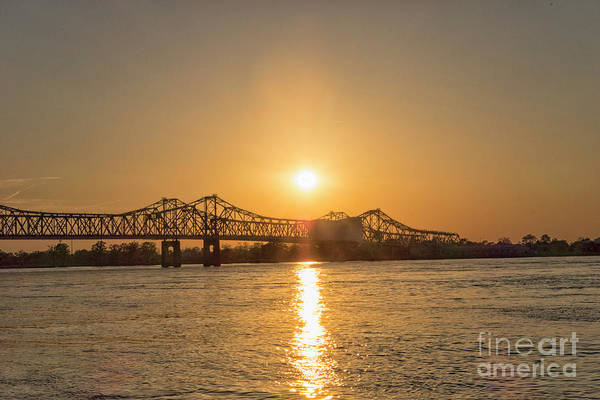 Wall Art - Photograph - Bridge Natchez At Sunset by Patricia Hofmeester