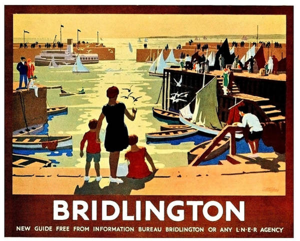 Wall Art - Painting - Bridlington Port, Yorkshire,great Britain, Travel Poster  by Long Shot
