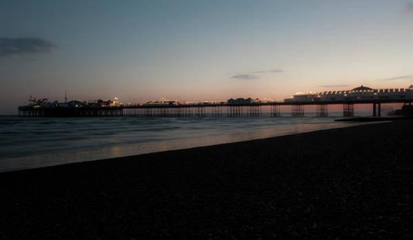 Photograph - Brighton Pier At Sunset Vi by Helen Northcott
