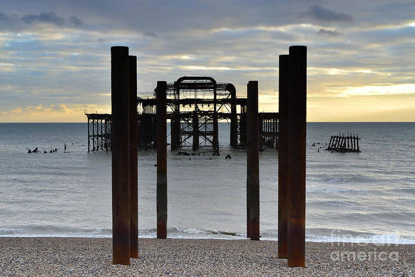 West Photograph - Brighton West Pier by Smart Aviation