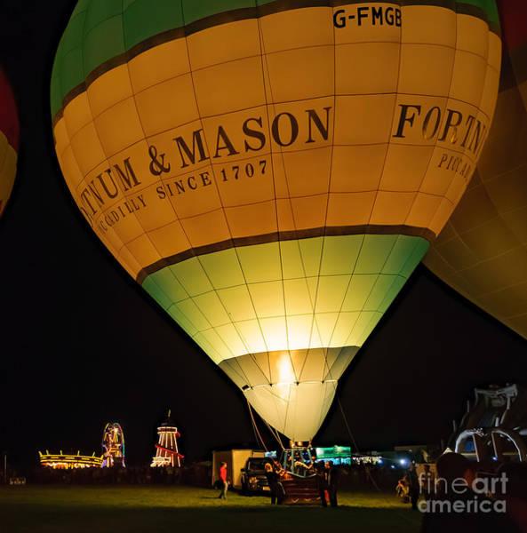 Photograph - Bristol Balloon Fiesta - Night Glow by Colin Rayner
