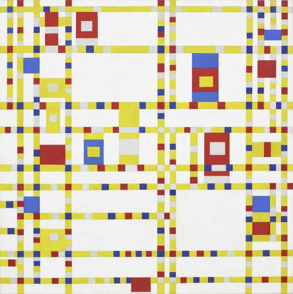 De Stijl Painting - Broadway Boogie Woogie by Piet Mondrian