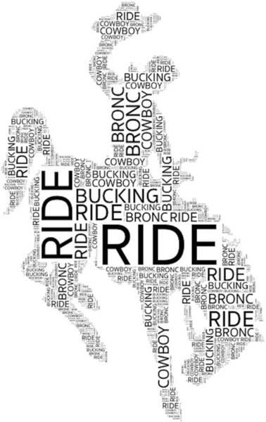 Digital Art - Bronc Rider by Alice Gipson