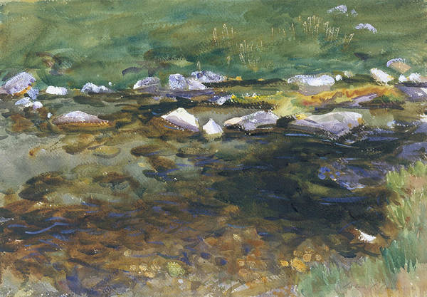 Painting - Brook And Meadow by John Singer Sargent