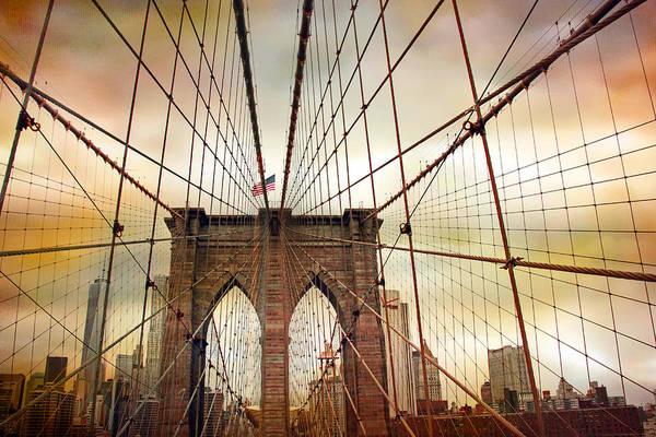 Photograph - Brooklyn Bridge Approach by Jessica Jenney