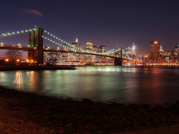 Wall Art - Photograph - Brooklyn Bridge Nights by Nina Papiorek
