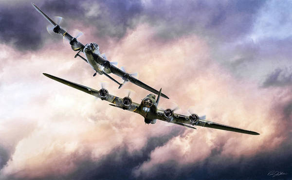 Battle Of Britain Digital Art - Brothers In Arms 2 by Peter Chilelli