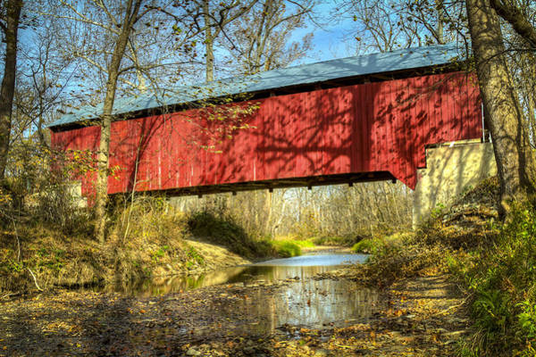 Photograph - Browsher Ford Covered Bridge by Jack R Perry
