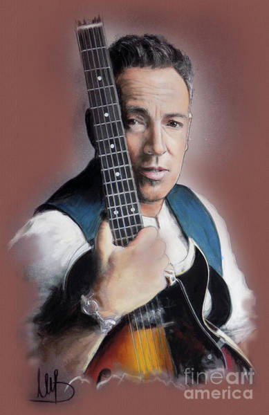 Wall Art - Painting - Bruce Springsteen by Melanie D