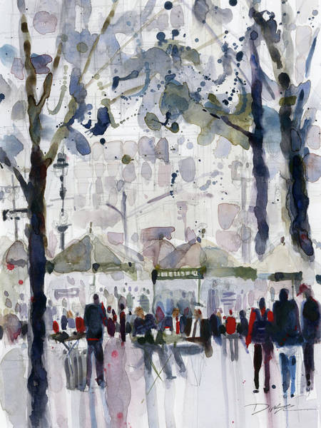 Grand Central Painting - Bryant Park, New York City by Dorrie Rifkin