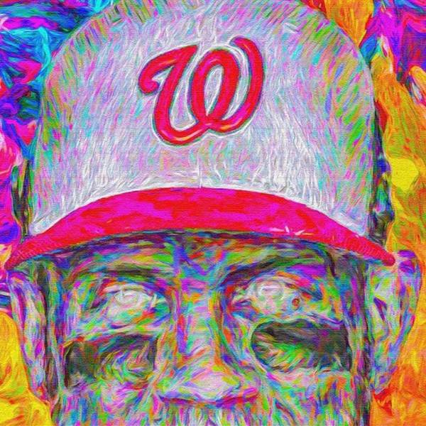 Drawing Wall Art - Photograph - #bryceharper #mvp #washingtondc by David Haskett II