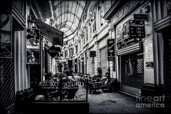 Monochrome Bucharest  Macca - Vilacrosse Passage Art Print