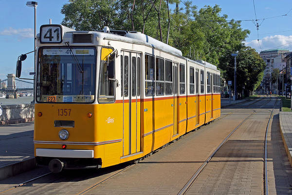 Photograph - Budapest Tram by Tony Murtagh