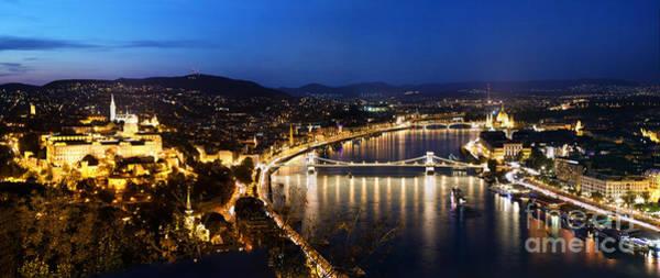 Buda Photograph - Budapest. View From Gellert Hill by Michal Bednarek