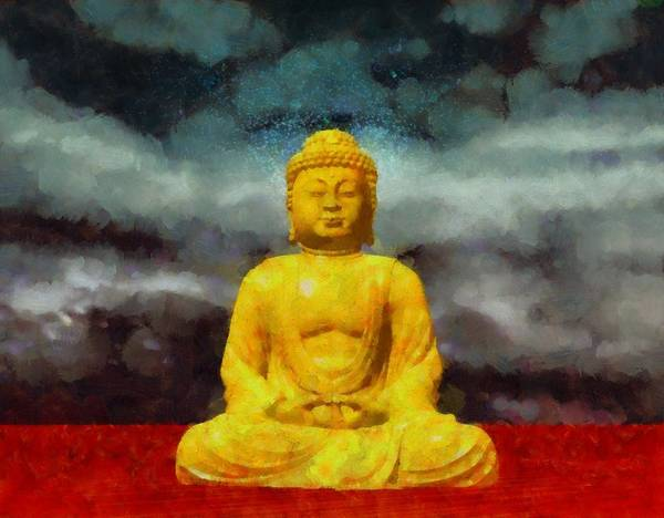 Strange Painting - Buddha by Esoterica Art Agency
