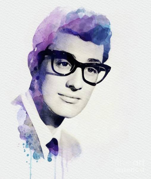 Holly Digital Art - Buddy Holly, Music Legend by John Springfield