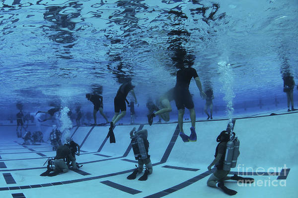 Special Operations Forces Photograph - Buds Students Participate In Underwater by Stocktrek Images