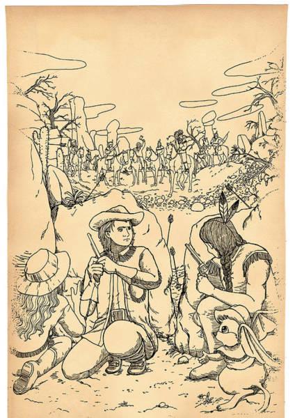 Drawing - Buffalo Bill And Standing Buffalo by Reynold Jay
