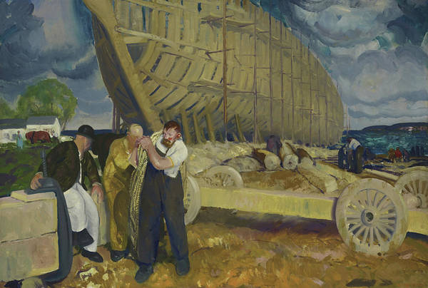 Oil Industry Painting - Builders Of Ships by George Wesley Bellows