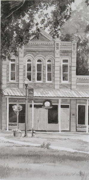Building On The Square Art Print by Karen Boudreaux
