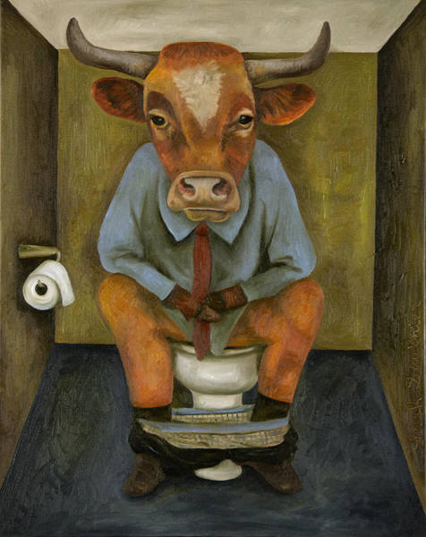 Painting - Bull Shitter by Leah Saulnier The Painting Maniac