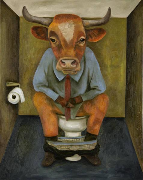 Bull Shitter Art Print