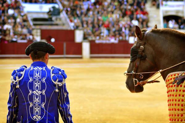 Toreador Photograph - Bullfighters Entering The Bullring  by Eduardo Huelin