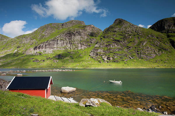 Photograph - Bunesfjord With Rorbu And Boat by Aivar Mikko