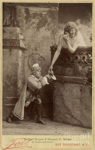 Romeo And Juliet Photograph - Burlesque Of Romeo And Juliet, 1888 by Folger Shakespeare Library