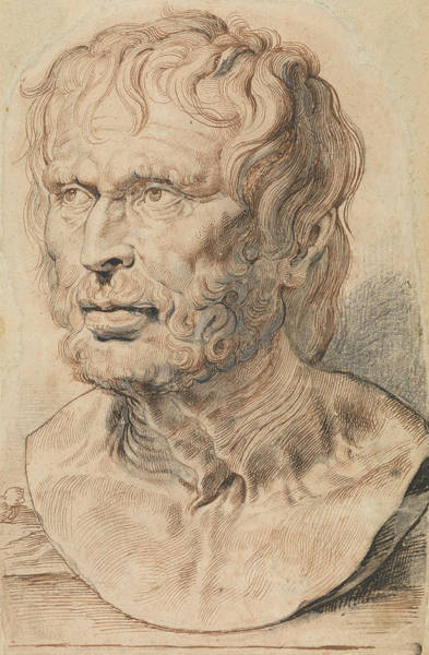 Drawing - Bust Of Pseudo-seneca by Peter Paul Rubens