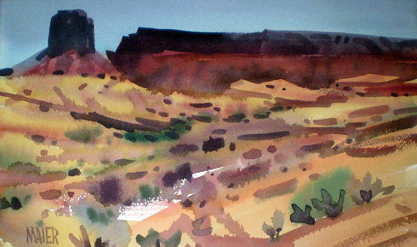 Butte Painting - Butte And Mesa by Donald Maier