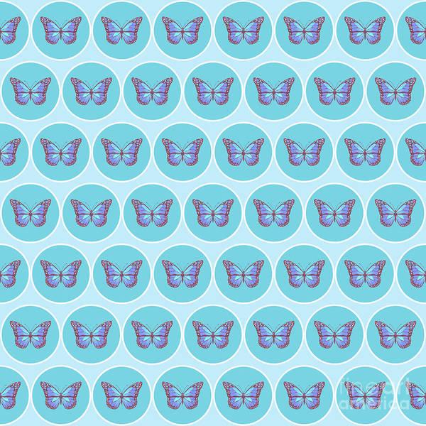 Wall Art - Digital Art - Butterflies Pattern by Gaspar Avila