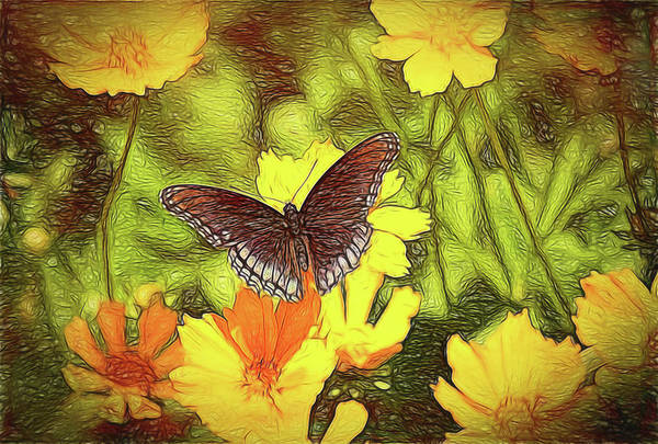 Digital Art - Butterfly Garden by Bonnie Willis