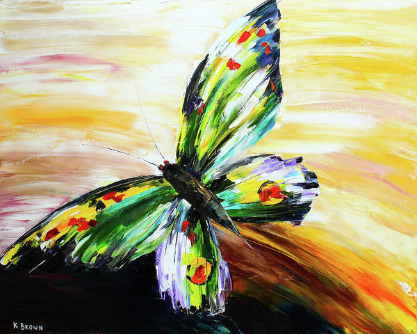 Painting - Butterfly by Kevin Brown