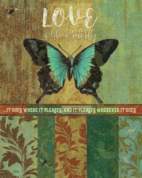 Love Letter Mixed Media - Butterfly Love by Marilu Windvand