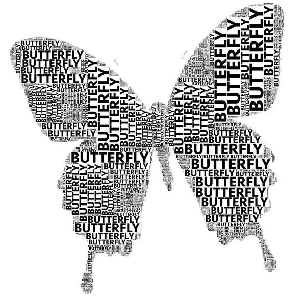 Digital Art - Butterfly Words by Alice Gipson
