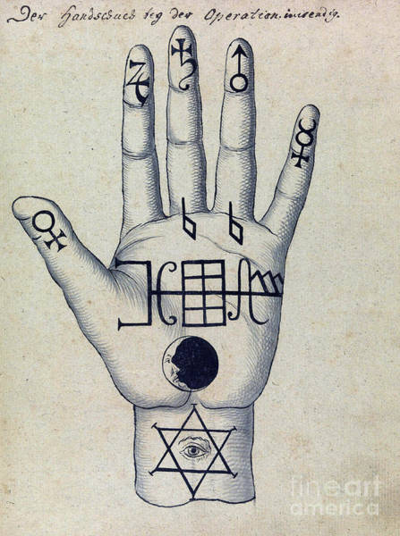 Wall Art - Photograph - Cabbalistic Signs And Sigils, 18th by Wellcome Images