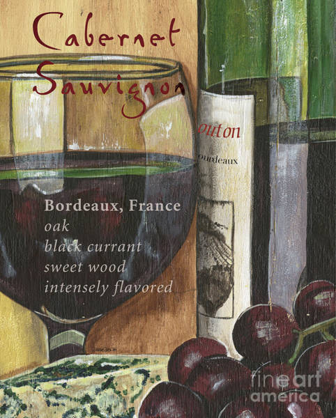 Cellar Wall Art - Painting - Cabernet Sauvignon by Debbie DeWitt