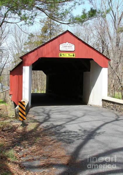 Photograph - Cabin Run Covered Bridge by Ken Keener