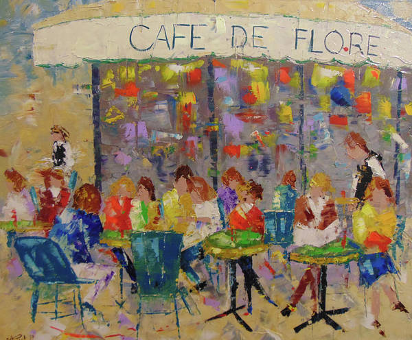 Painting - Cafe De Flore by Frederic Payet