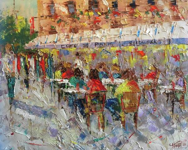 Painting - Cafe De Paris France by Frederic Payet