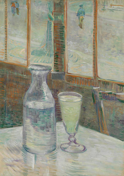 Painting - Cafe Table With Absinthe 1887 by Vincent Van Gogh