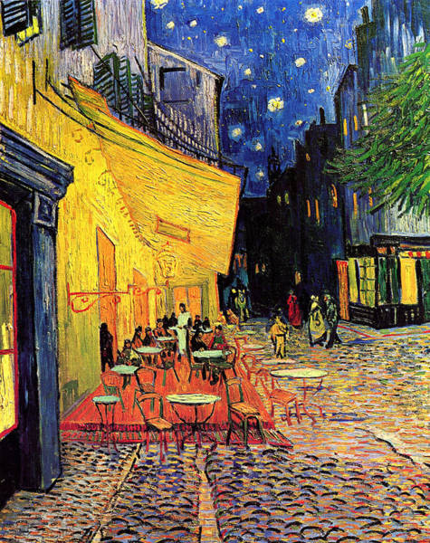 City Cafe Wall Art - Painting - Cafe Terrace Place Du Forum At Night by Vincent Van Gogh