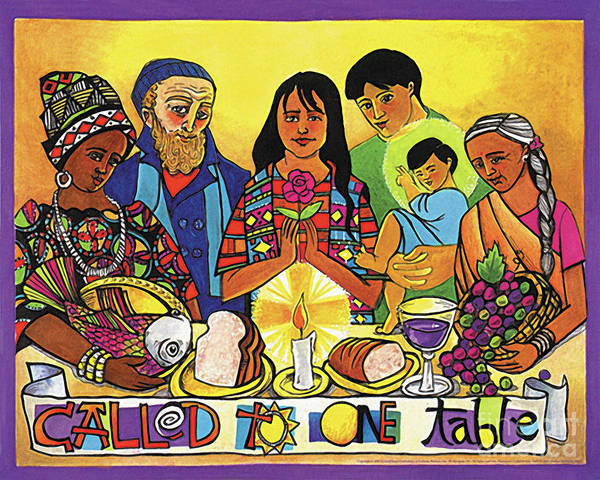 Painting - Called To One Table - Mmcot by Br Mickey McGrath OSFS