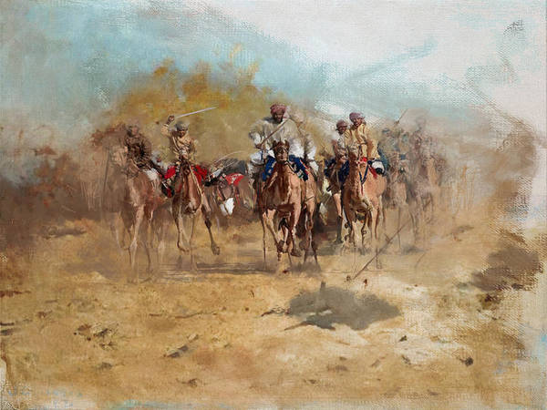 Camel Rider Painting - Camels And Desert 6 by Mahnoor Shah