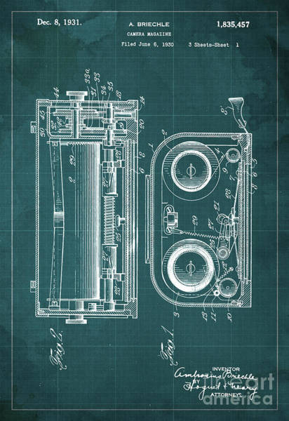 Invention Painting - Camera Magazine Patent Year 1930 by Drawspots Illustrations