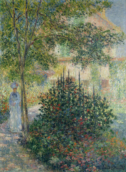 Painting - Camille Monet In The Garden At Argenteuil by Claude Monet