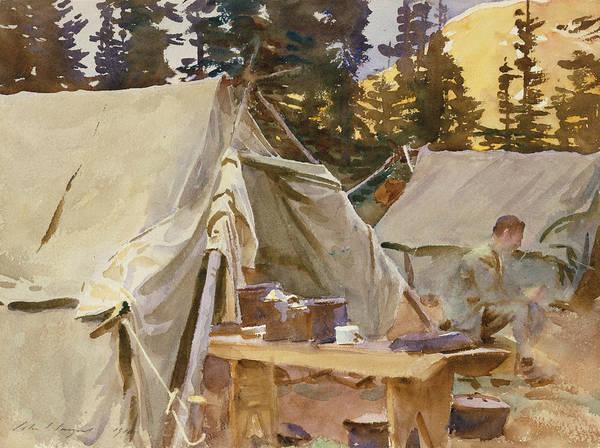 Drawing - Camp At Lake O'hara by John Singer Sargent