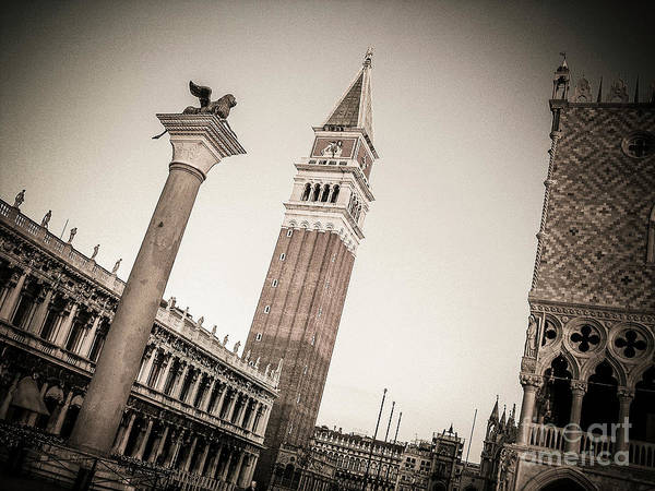 Wall Art - Photograph - Campanile Venice  by Bernard Jaubert