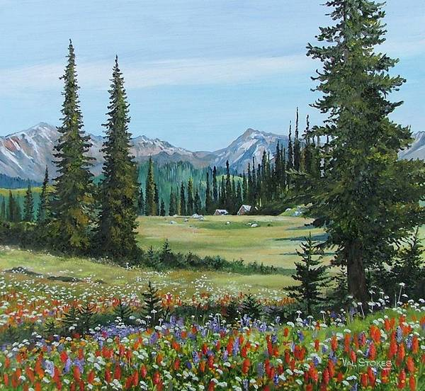 Painting - Canadian Springtime by Val Stokes